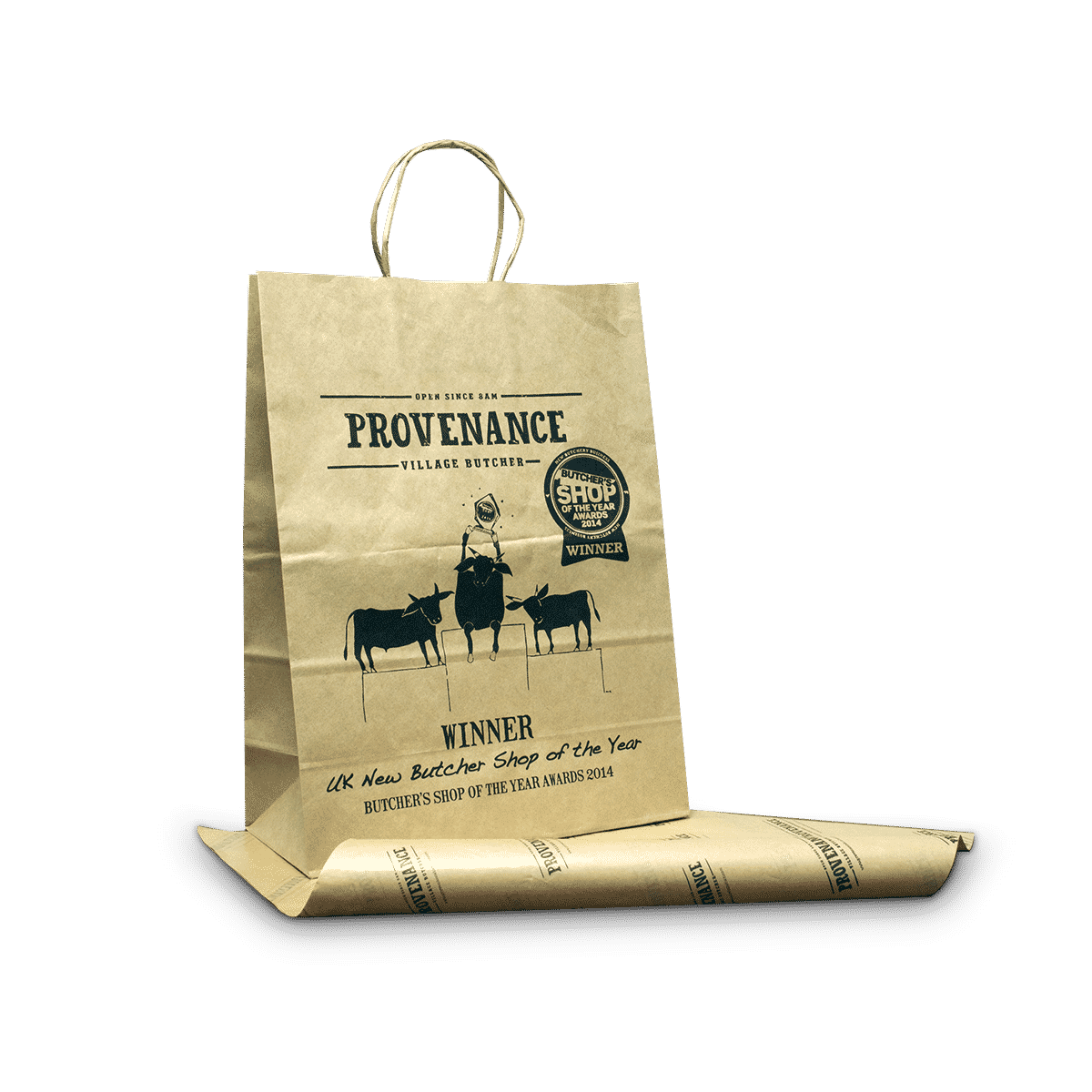 Kraft paper bag - twisted handle